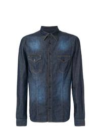 Camisa vaquera azul marino de Philipp Plein