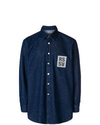 Camisa vaquera azul marino de Raf Simons