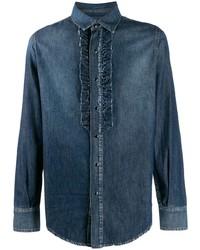 Camisa vaquera azul marino de Saint Laurent