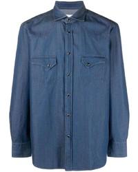 Camisa vaquera azul marino de Tagliatore