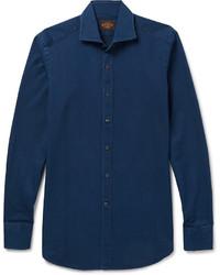 Camisa vaquera azul marino de Tod's