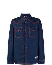 Camisa vaquera azul marino de Valentino