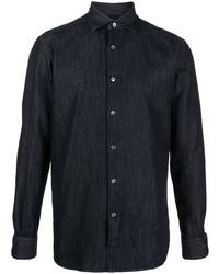 Camisa vaquera azul marino de Z Zegna