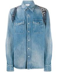 Camisa vaquera azul de Alexander McQueen