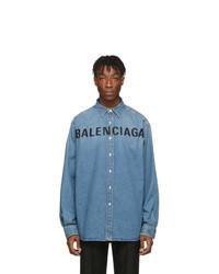 Camisa vaquera azul de Balenciaga