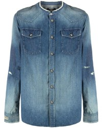 Camisa vaquera azul de Balmain