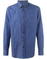 Camisa vaquera azul de Brioni