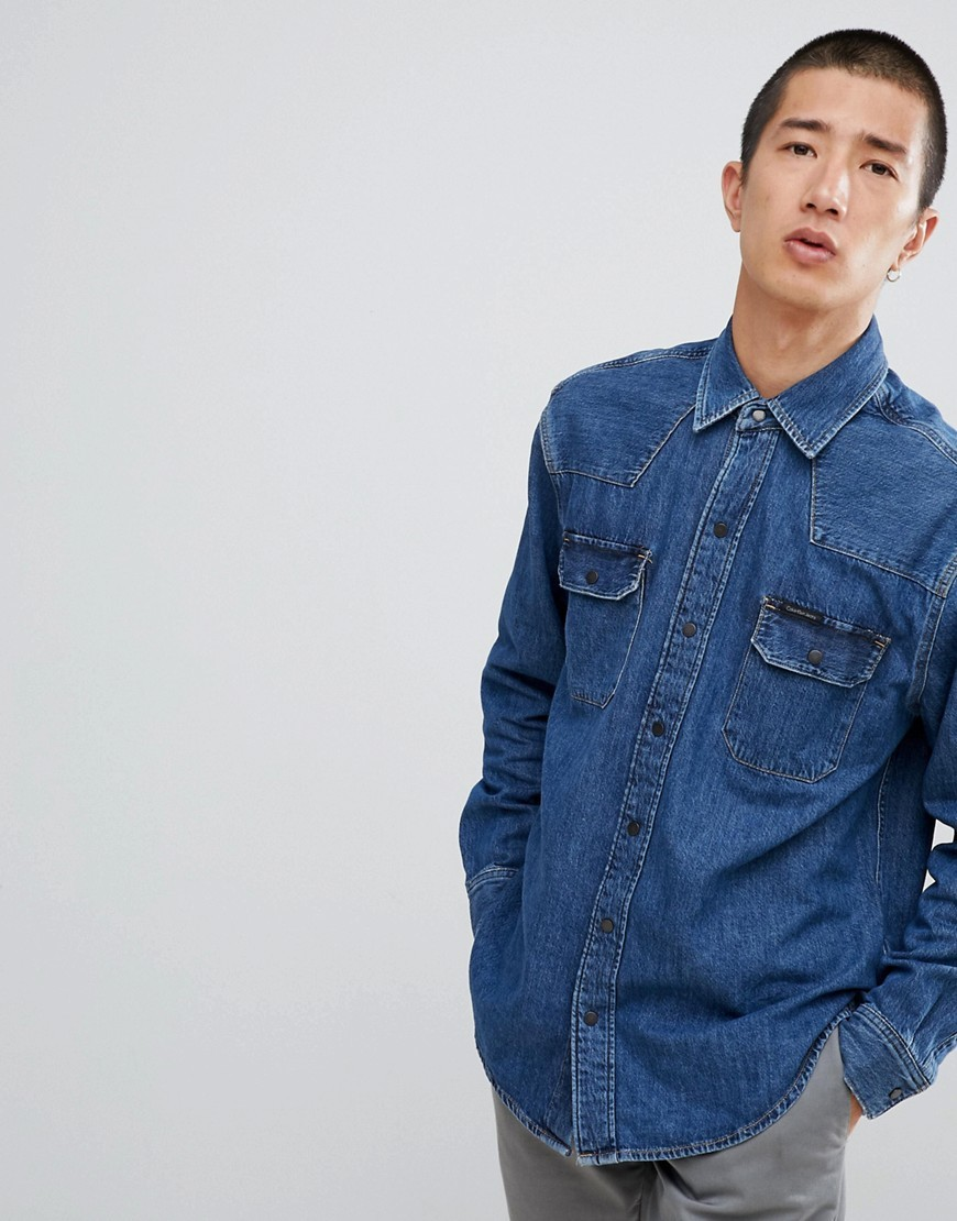 Camisa vaquera azul de Calvin Klein