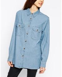 Camisa vaquera azul de Asos
