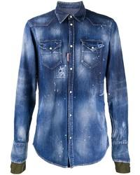 Camisa vaquera azul de DSQUARED2