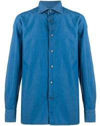 Camisa vaquera azul de Ermenegildo Zegna
