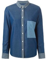 Camisa vaquera azul de Golden Goose Deluxe Brand