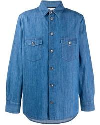 Camisa vaquera azul de Gucci