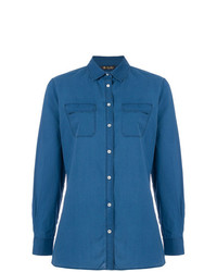 Camisa vaquera azul de Loro Piana