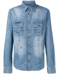 Camisa vaquera azul de Philipp Plein