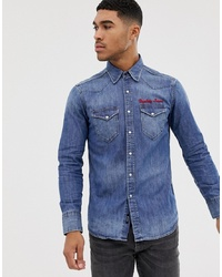 Camisa vaquera azul de Replay