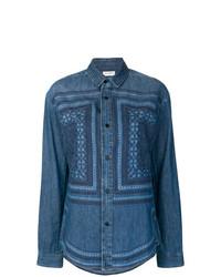 Camisa vaquera azul de Saint Laurent