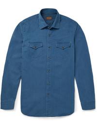 Camisa vaquera azul de Tod's