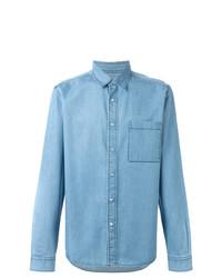 Camisa vaquera celeste de AMI Alexandre Mattiussi