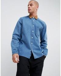 Camisa vaquera celeste de ASOS DESIGN