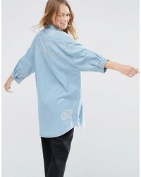 Camisa vaquera celeste de Asos