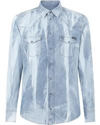 Camisa vaquera celeste de Dolce & Gabbana