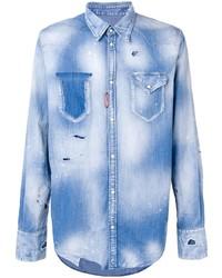 Camisa vaquera celeste de DSQUARED2