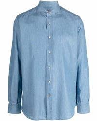 Camisa vaquera celeste de Mazzarelli