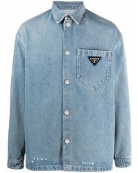 Camisa vaquera celeste de Prada