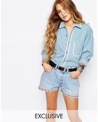 Camisa vaquera celeste de Reclaimed Vintage