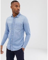 Camisa vaquera celeste de Tiger of Sweden Jeans