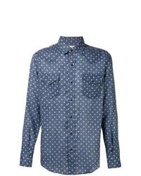 Camisa vaquera de estrellas azul de Saint Laurent