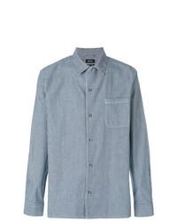 Camisa vaquera de rayas verticales azul de A.P.C.