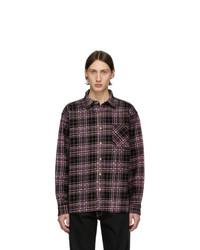 Camisa vaquera de tartán negra de Noon Goons