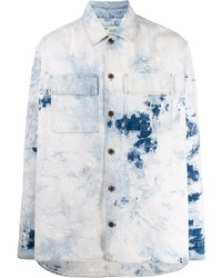 Camisa vaquera efecto teñido anudado celeste de Off-White