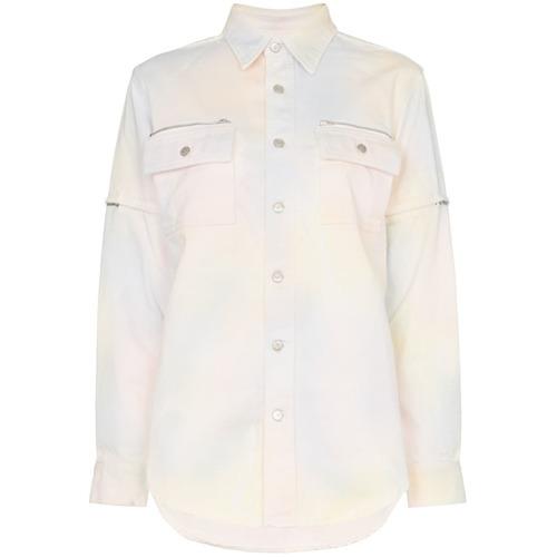 Camisa vaquera efecto teñido anudado en multicolor de Ganni