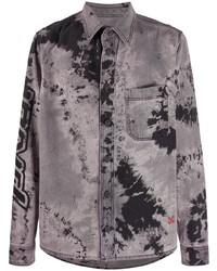 Camisa vaquera efecto teñido anudado gris de Off-White