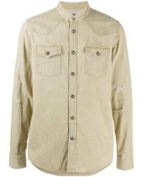 Camisa vaquera en beige de Balmain