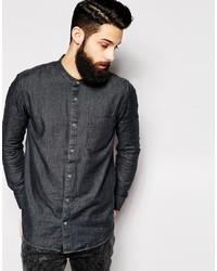 Camisa vaquera en gris oscuro de Cheap Monday