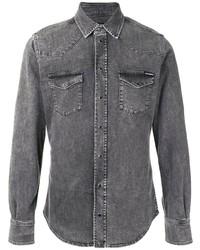 Camisa vaquera en gris oscuro de Dolce & Gabbana