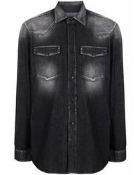 Camisa vaquera en gris oscuro de Dondup