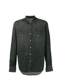 Camisa vaquera en gris oscuro de Eleventy