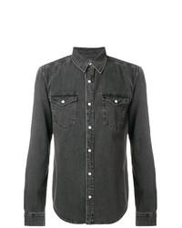 Camisa vaquera en gris oscuro de Givenchy
