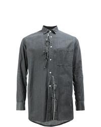 Camisa vaquera en gris oscuro de Maison Mihara Yasuhiro