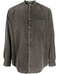 Camisa vaquera en gris oscuro de Massimo Alba