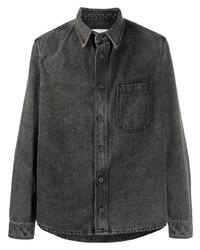 Camisa vaquera en gris oscuro de Off-White