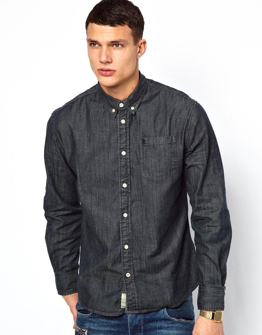 df16680243 ... Camisa vaquera en gris oscuro de Pepe Jeans