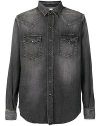 Camisa vaquera en gris oscuro de Saint Laurent