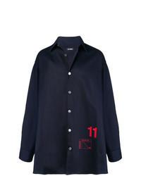 Camisa vaquera estampada azul marino