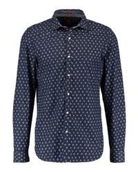 Camisa vaquera estampada azul marino de s.Oliver